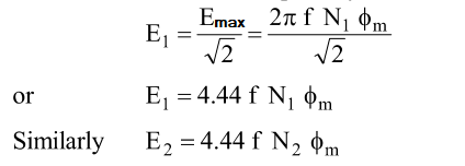 Emf equation of the transformer