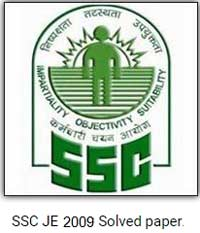 SSC JE 2009 Electrical question paper with Solution