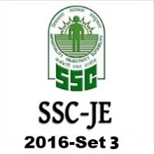 SSC JE Electrical question paper with solution 2016 -Set-3