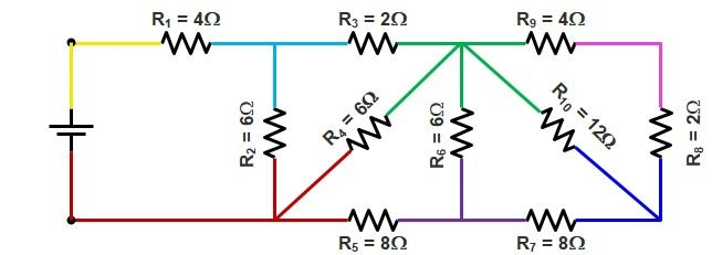 Basic Electrical | Series and Parallel circuit | Series Parallel circuit 10