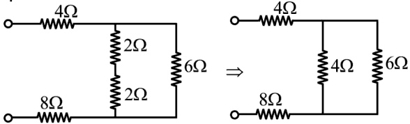 Find the equivalent resistance, Req looking into the terminals of the following circuit as Indicated