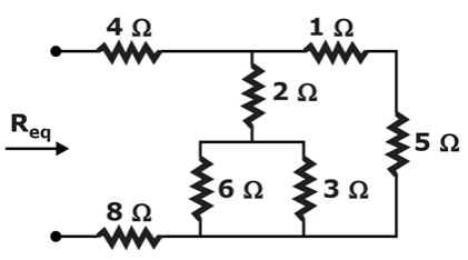 Find the value of 'Req' for the following circuit.