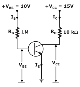 Find the approximate collector current in the given transistor circuit.