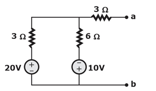 Obtain the Thevenin equivalent circuit parameters Vthand Rthfor the following network.